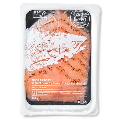SJÖRAPPORT Cured salmon, ASC certified/frozen