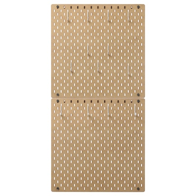 "SKÅDIS Pegboard combination, wood, 22x44 """
