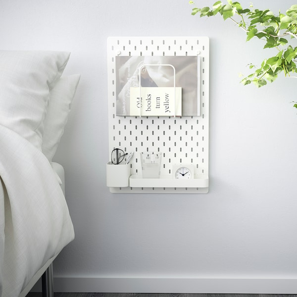 "SKÅDIS pegboard combination white 14 ¼ "" 4 ¾ "" 22 """