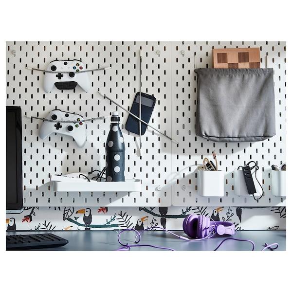 SKÅDIS Storage bag, white/gray
