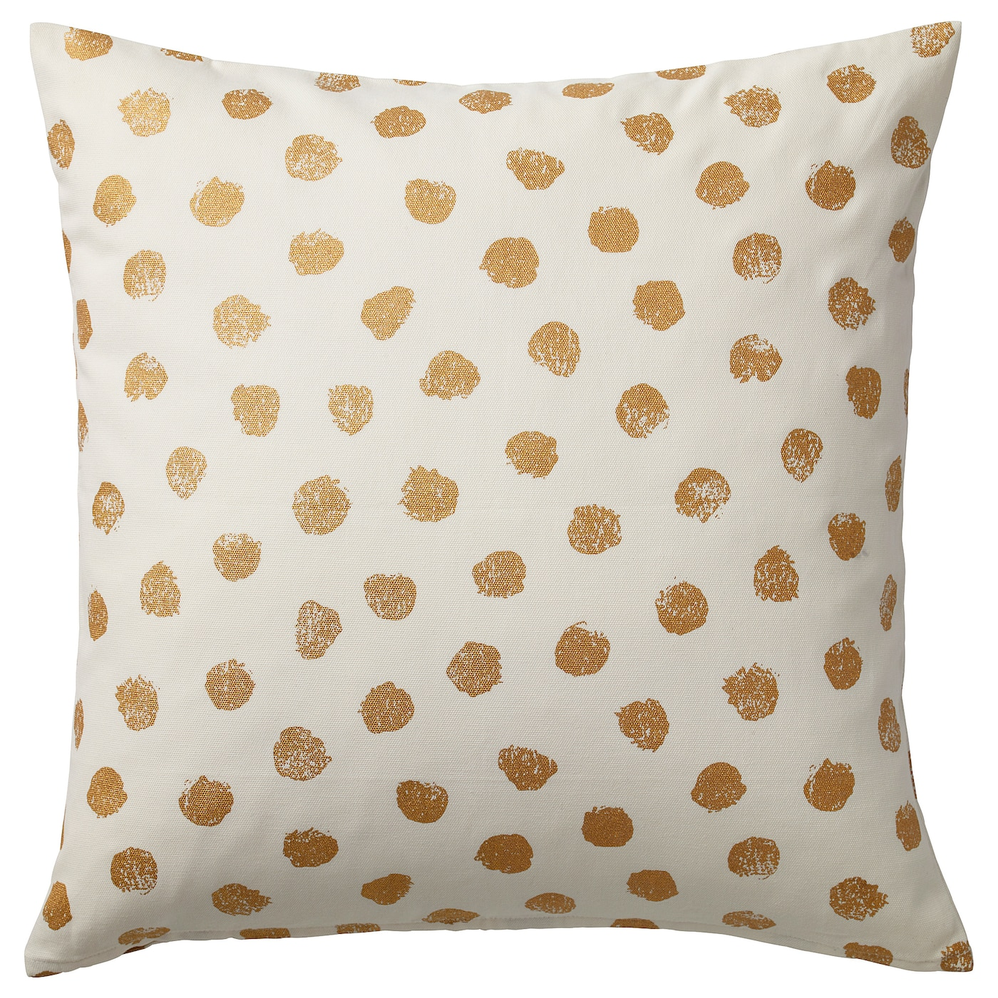 Sk 196 Gg 214 Rt Cushion Cover White Gold Color Ikea