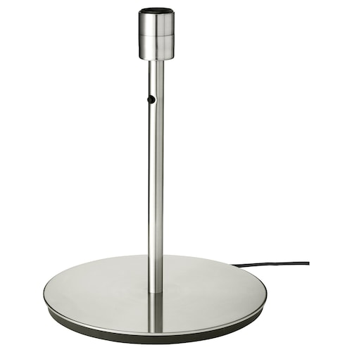"""SKAFTET table lamp base with LED bulb nickel plated 13 W 15 """" 11 """" 6 ' 7 """""""