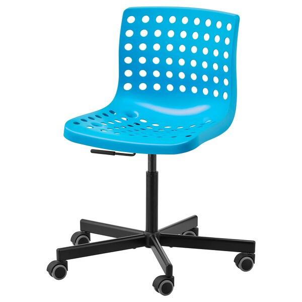 Enjoyable Swivel Chair Skalberg Sporren Blue Black Unemploymentrelief Wooden Chair Designs For Living Room Unemploymentrelieforg