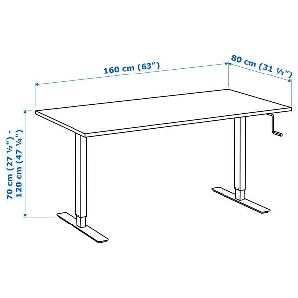 Skarsta Desk Sit Stand White Ikea