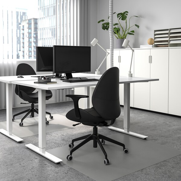SKARSTA Desk sit/stand, white, 63x31 1/2 ""