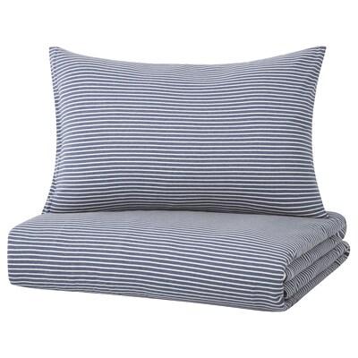 SKENHASSEL Duvet cover and pillowcase(s), blue, Full/Queen