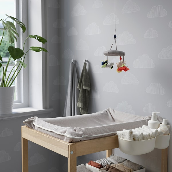 """SKÖTSAM Cover for changing pad, gray, 32 5/8x21 5/8 """""""