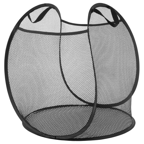 SKOGHALL Basket with handles, black, 21 gallon