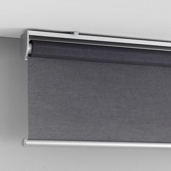 """SKOGSKLÖVER Roller blind, gray, 34x76 ¾ """""""