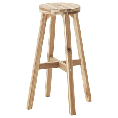 "SKOGSTA bar stool acacia 220 lb 11 "" 18 7/8 "" 18 7/8 "" 27 1/2 "" 27 1/2 """