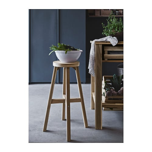 SKOGSTA Bar stool IKEA Solid wood is a durable natural material.