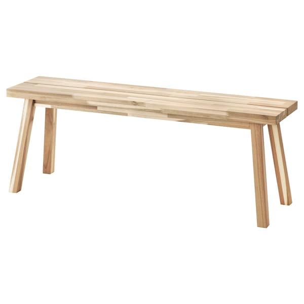 """SKOGSTA Bench, acacia, 47 1/4 """""""