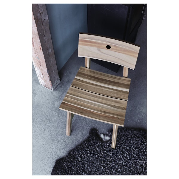 """SKOGSTA chair acacia 220 lb 17 3/4 """" 19 1/4 """" 31 1/8 """" 17 3/4 """" 16 1/2 """" 18 1/8 """""""