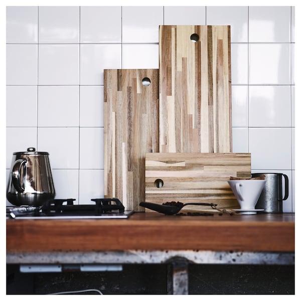 "SKOGSTA Chopping board, acacia, 19 ¾x11 ¾ """