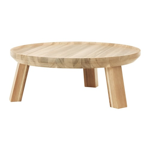 SKOGSTA Platter with stand, acacia
