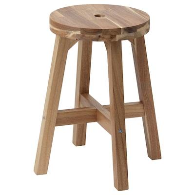 "SKOGSTA stool acacia 220 lb 11 "" 15 3/8 "" 15 3/8 "" 17 3/4 "" 17 3/4 """