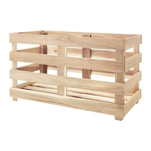skogsta storage crate ikea. Black Bedroom Furniture Sets. Home Design Ideas