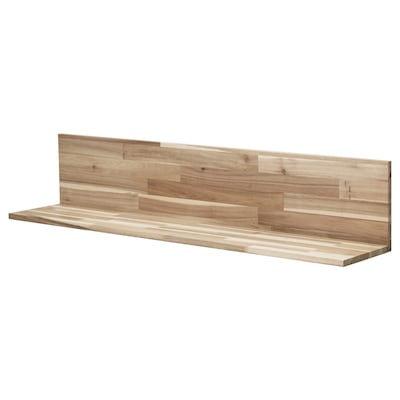 SKOGSTA Wall shelf, acacia, 47 1/4x9 7/8 ""