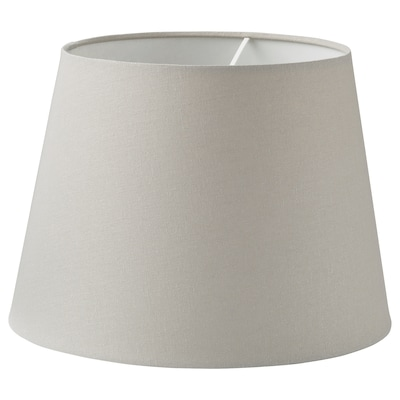 SKOTTORP Lamp shade, light gray, 13 ""
