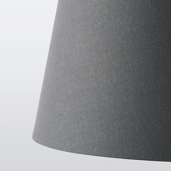 SKOTTORP / SKAFTET Floor lamp, arched, gray