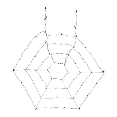 SKRUV LED light net with 48 lights, outdoor, black outdoor/black -