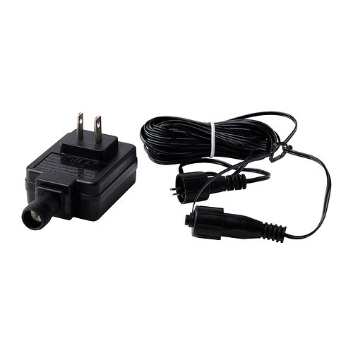 SKRUV Transformer with cord, black black -