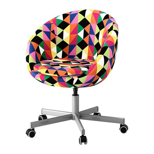 SKRUVSTA Swivel chair, Majviken multicolor Majviken multicolor -