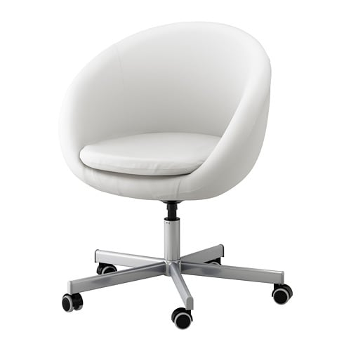 Skruvsta swivel chair idhult white ikea for Bureau stoel