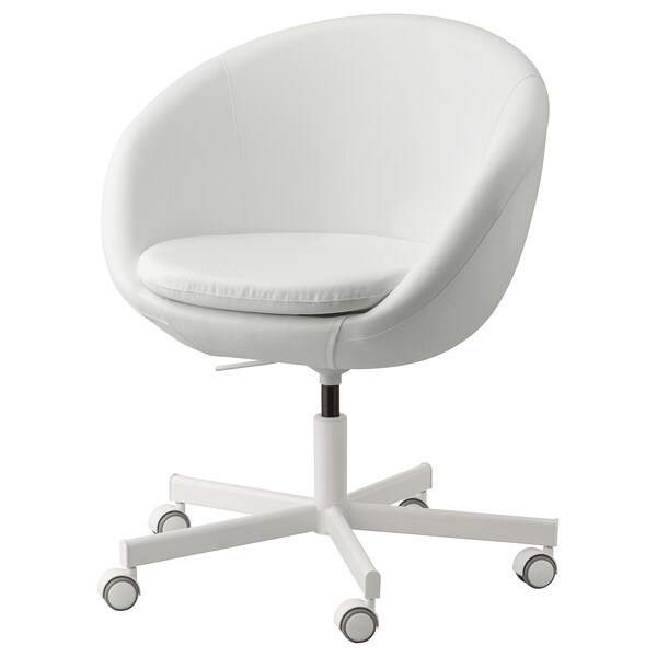 "SKRUVSTA swivel chair Ysane white 242 lb 8 oz 27 1/8 "" 27 1/8 "" 31 1/8 "" 33 7/8 "" 18 7/8 "" 17 3/4 "" 18 1/2 "" 21 5/8 """