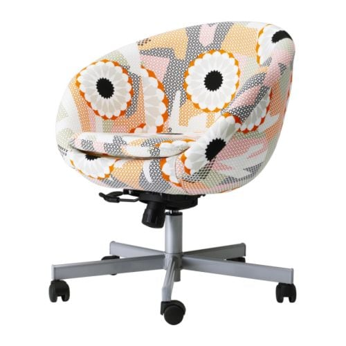 "SKRUVSTA Swivel chair, Ankarsvik multicolor Min. height: 31 1/8 "" Max. height: 33 7/8 "" Seat width: 18 7/8 "" Seat depth: 17 3/4 "" Min. seat height: 18 1/2 "" Max. seat height: 21 5/8 ""  Min. height: 79 cm Max. height: 86 cm Seat width: 48 cm Seat depth: 45 cm Min. seat height: 47 cm Max. seat height: 55 cm"
