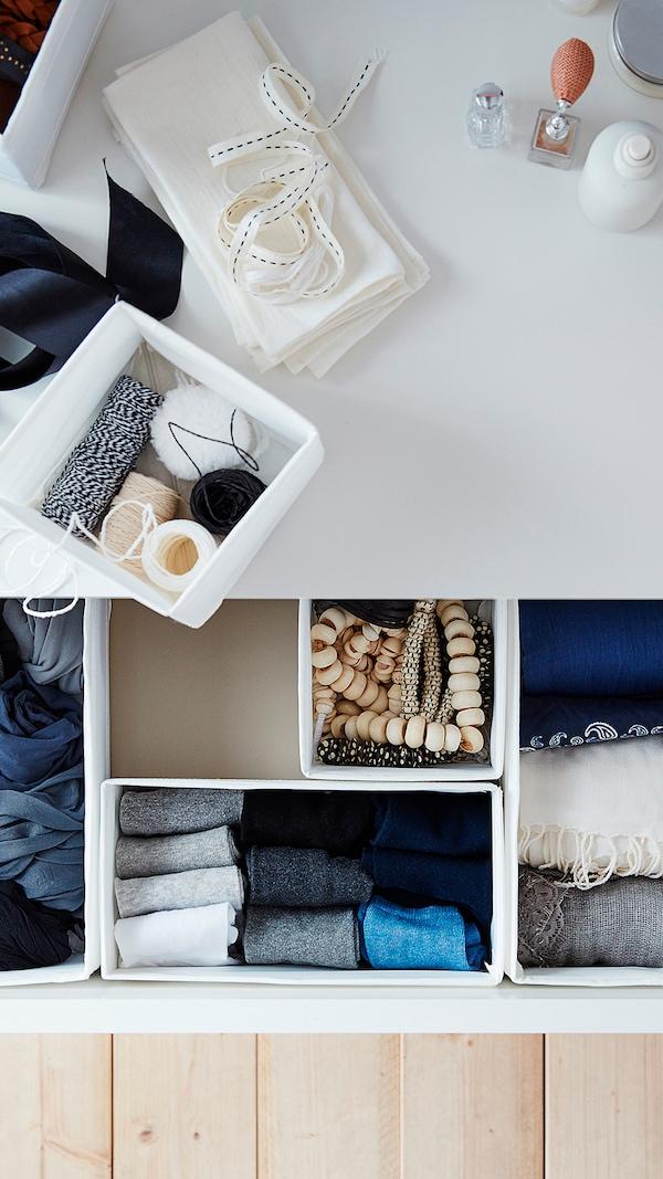 SKUBB Box, set of 6, white