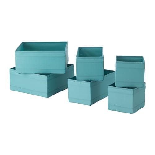 SKUBB Box, set of 6, light blue light blue -