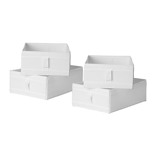 skubb box set of 6 white ikea boxes and drawers. Black Bedroom Furniture Sets. Home Design Ideas
