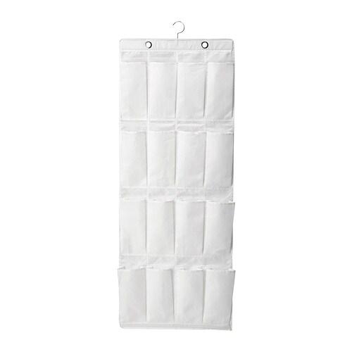 SKUBB Hanging shoe organizer w/16 pockets, white white -