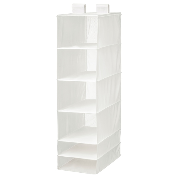 SKUBB Organizer with 6 compartments, white, 13 ¾x17 ¾x49 ¼ ""