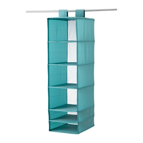 Skubb organizer with 6 compartments light blue ikea for Hanging organizer ikea