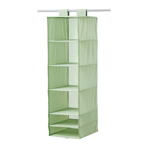 Skubb organizer with 6 compartments light green ikea for Hanging organizer ikea