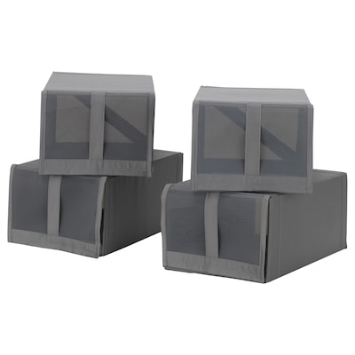 SKUBB Shoe box, dark gray, 8 ¾x13 ½x6 ¼ ""