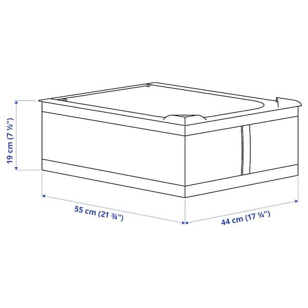 """SKUBB Storage case, dark gray, 17 ¼x21 ¾x7 ½ """""""