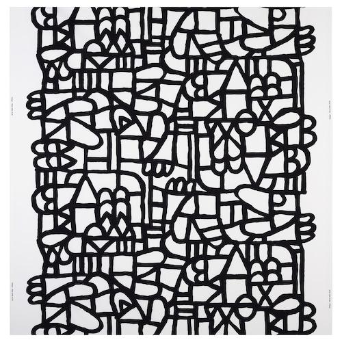 """SKUGGBRÄCKA fabric white/black 0.75 oz/sq ft 59 """" 16.15 sq feet"""