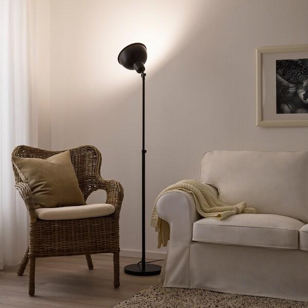 SKURUP Floor uplight with LED bulb, black