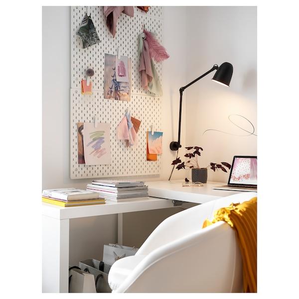 SKURUP Work/wall lamp with LED bulb, black