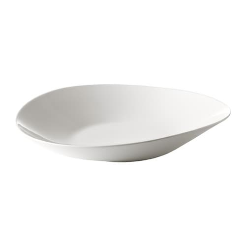 SKYN Serving plate IKEA Made with bone china that is thin, lightweight, strong and very durable.