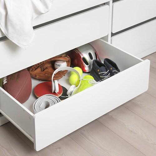 IKEA SLÄKT Bed frame w/storage+slatted bedbase