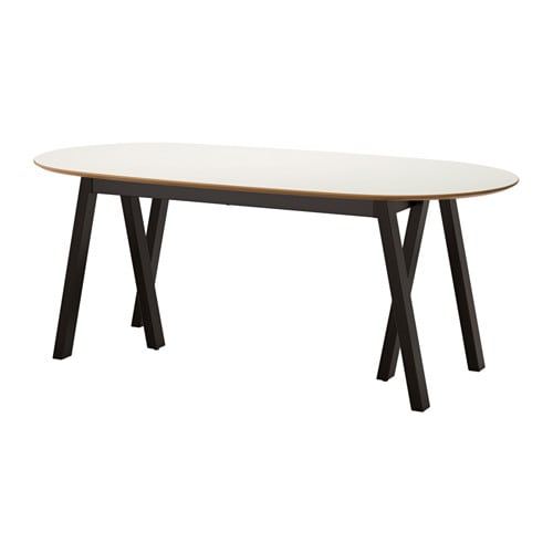 Sl hult table grebbestad black ikea for Table x reviews