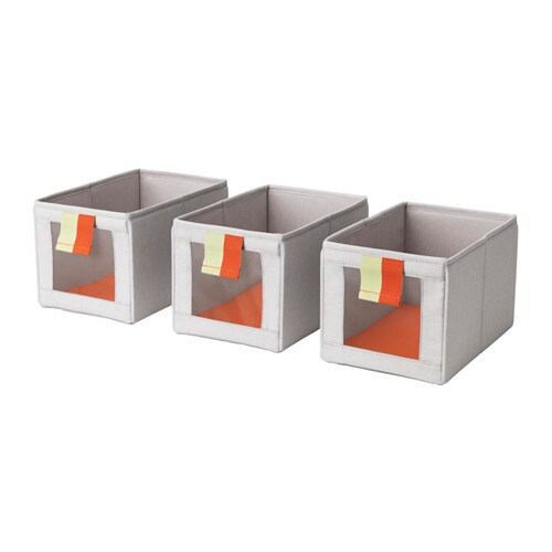 SLÄKTING Box, gray, orange gray/orange -