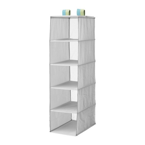 SLÄKTING Organizer with 5 compartments, gray gray 9 ¾x15 ¾x38 ½