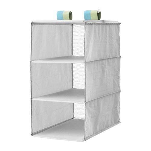 SLÄKTING Organizer with 3 compartments, gray gray 9 7/8x15 3/4x19 5/8