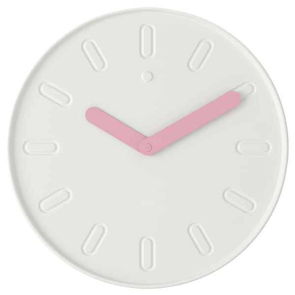 SLIPSTEN Wall clock, white, 13 ¾ ""