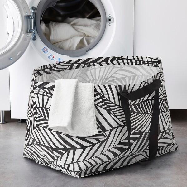 SLUKIS Shopping bag, large, black/white, 19 gallon